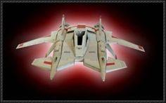 Buck Rogers - Thunderfighter Mk. III retro free papercraft download