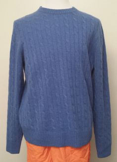 Allen Solly Men Size L 100% 2 ply #cashmere sweater Blue Crewneck AllenSolly visit our ebay store at  http://stores.ebay.com/esquirestore