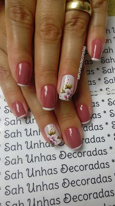 Ideas Summer Pedicure Pink Spring Nails For 2019 Red Nail Designs, Super Nails, Easy Nail Art, French Nails, Manicure And Pedicure, Spring Nails, Christmas Nails, Toe Nails, Jelsa