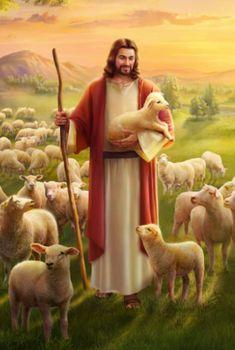 """Jesus Christ painting idea for church tile decor"" Jesus Christ Painting, Jesus Artwork, Christ The Good Shepherd, Jesus Scriptures, Parables Of Jesus, Jesus Photo, Jesus Is Life, Afrique Art, The Lost Sheep"