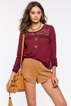 A'GACI | Crochet Button Back Blouse | #agaci
