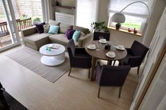 Small spaces- living room dining combo