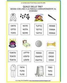 CIAO BAMBINI schede didattiche per tutte le classi Prime letture: osserva il disegno e scegli la parola corrispondente quale_delle_tre.pdf http://www.ciaomaestra.it/public/01/quale_delle_tre.pdf