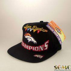 4c5937948b9 Super Bowl XXXII Champions Broncos Snapback Hat. SGMC Vintage