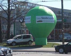 6m kõrgune reklaampalll Skoda - http://www.reklaamkingitus.com/et/pildid?pid=8115