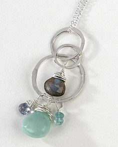 freshie and zero handmade jewelry - moontide necklace