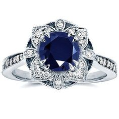 #Antique #Sapphire #Diamond #Rings #jewellery