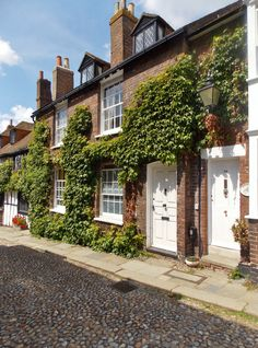 """Beautiful houses in Mermaid Street, Rye, East Sussex, England, UK. """"I never get tired of photographing Rye, so many beautiful buildings in one place."""" By B Lowe"""