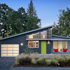 Exterior Paint Mid Century Design Ideas