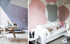 Ideas para pintar las paredes con motivos geométricos - Decofilia.com