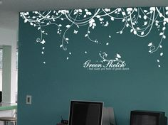 teal tree vinyl wall decal - Google Search