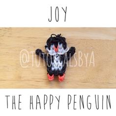 Original TutorialsByA Rainbow Loom Penguin Design: Joy the Happy Penguin action figure/figurine animal