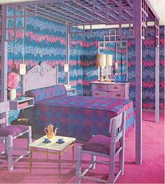 Practical Encyclopedia Pink and Purple Plaid Bedroom | Flickr - Photo Sharing! - dont think i could sleep in this room..