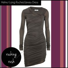 shopping list pick #5: Helmut Lang Ruched Jersey Dress