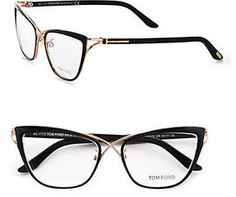 500.00 Tom Ford Eyewear Cat's-Eye Eyeglasses/Black on shopstyle.com