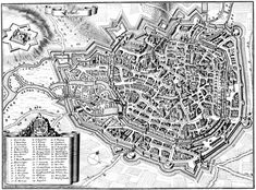 Eufurt fortifications in 1650 Merian, Old Maps, Fortification, Old Town, City Photo, Medieval, Image, Martin Luther, Genealogy