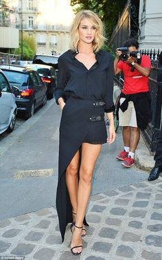 asymmetry. RHW in Paris. #RosieHuntingtonWhiteley