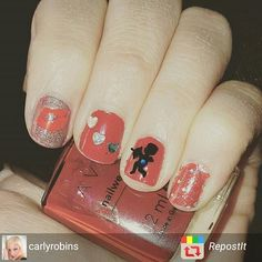 Checkout these #valentinesnails by @carlyrobins using cupid #Naildecals from http://ift.tt/1EzUzfG  worldwide shipping  #naildesign #nails #nails2inspire #charliesnailart #nailartpromote by charliesnailart