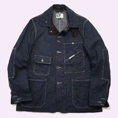 Engineered Garments - RAILROADER JACKET 12oz Denim