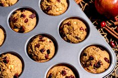 Cranberry Apple Blender Muffins, Low-Sugar Breakfast Recipe | Hungry Girl Healthy Breakfast Muffins, Breakfast Recipes, Breakfast Ideas, Ww Desserts, Dessert Recipes, Healthy Desserts, Healthy Recipes, Ww Recipes, Cooking Recipes