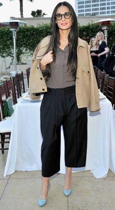 Moda para mulheres com 50 anos ou mais: Demi Moore                                                                                                                                                     Mais