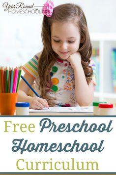 Free Preschool Homeschool Curriculum