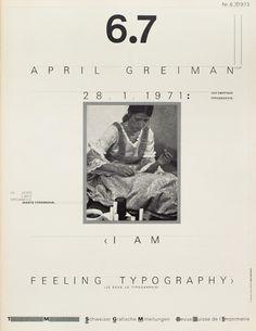 Weingart Typo Grafische Monat cover from 1973 issue 6/7