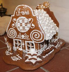perníková chaloupka - Gingerbread house Pasta Flexible, Edible Art, Cake, Desserts, Christmas, Crafts, Gingerbread Houses, Food, Ideas
