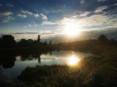 Zachód słońca,rzeka Warta w miejscowości Czmoniec. Celestial, Sunset, Outdoor, Outdoors, Sunsets, Outdoor Games, The Great Outdoors, The Sunset