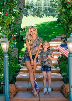 Girls Camo Cap Sleeve Top with Patriotic Pocket Cap Sleeve Top, Cap Sleeves, Utah Boutiques, Modern Vintage Boutique, Mommy And Me Outfits, Children's Boutique, Family Photos, Camo, Top Top