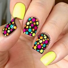 Since Polka dot Pattern are extremely cute & trendy, here are some Polka dot Nail designs for the season. Get the best Polka dot nail art,tips & ideas here. Dot Nail Designs, Pretty Nail Designs, Simple Nail Art Designs, Easy Nail Art, Nails Design, Simple Art, Bright Nail Designs, Cute Summer Nail Designs, Dot Nail Art