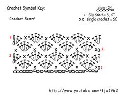 Crochet Geek - Free Instructions and Patterns: Shell Crochet Winter Scarf