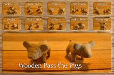 Pass the pigs in wood.