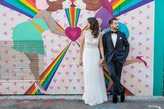 Mission District, wedding portraits in Clarion Alley // Vivian Chen Photography // www.vivianchen.com