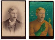 Vintage photographs transformed into superhero portraits by artist Alex Gross.