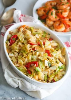 Jamaican Cabbage and Shrimp