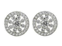 All White Gold Diamond cluster stud earring  http://www.luciecampbell.com/earrings/All/1288--13/  £2900    richard@luciecampbell.com  Lucie Campbell Jewellers Bond Street London  http://www.luciecampbell.com