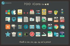 iConadams 700 icons by iConadams on @creativemarket