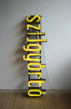 Old company inscription with neon | artKRAFT interior&design