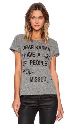 Local Celebrity Dear Karma Graphic Tee in Grey