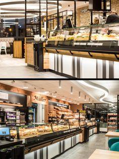 Bakery Shop Design, Kiosk Design, Cafe Design, Store Design, Modern Bakery, Bakery Store, Small House Design, Retail Shop, Street Food