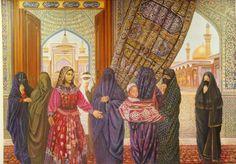 Iraqi women's gathering Iraqi Women, Heroic Age, Free Museums, Baghdad, History Books, Painting Prints, Aurora Sleeping Beauty, Teaching, Portrait