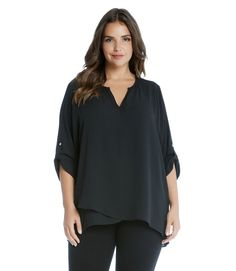 b7839e3b2f8 Slate and Stone - Plus Size Asymmetric Hem Wrap Top Curvy Women Fashion