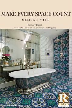 Best Cement Tile By Rustico Tile And Stone Images On Pinterest In - Bathroom tile wholesale prices