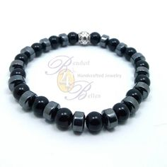 Check out this item in my Etsy shop https://www.etsy.com/listing/515064885/mens-hematite-black-beaded-bracelet-with