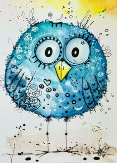 Art Sketchbook Ideas Doodles – Art World 20 Doodle Art, Bird Doodle, Watercolor And Ink, Watercolor Paintings, Watercolors, Happy Paintings, Bird Drawings, Sketch Art, Whimsical Art