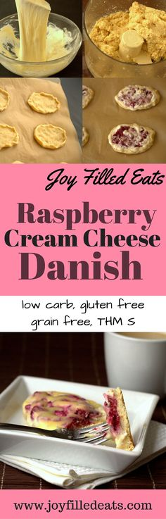 Raspberry Cream Cheese Danish. Four of my favorite words. What makes them better is that these are low carb, grain free, gluten free, sugar free, & a THM S. via @joyfilledeats