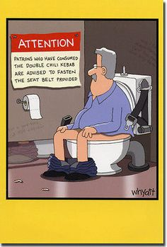 Warning in Bathroom Stall Funny Tim Whyatt Birthday Card by Nobleworks Cartoon Jokes, Funny Cartoons, Funny Comics, Haha Funny, Funny Cute, Hilarious Memes, Funny Shit, Funny Stuff, Funny Images