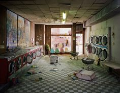 "You have to check out these Lori Nix dioramas. Perfectly proportioned and very tiny. ""rooms of decay"" 7 mohths to create"