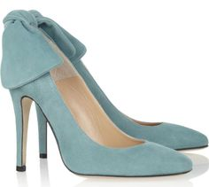 Carven baby blue bow-backs- They make me think of the French school's outfits in Harry Potter